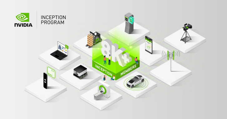 NVIDIA Inception計畫成員超過8000人,展現全球AI新創生態系