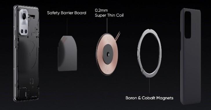 realme 發表 50W 磁吸無線充電 MagDart 功能,首款概念機 realme Flash 一小時內充飽