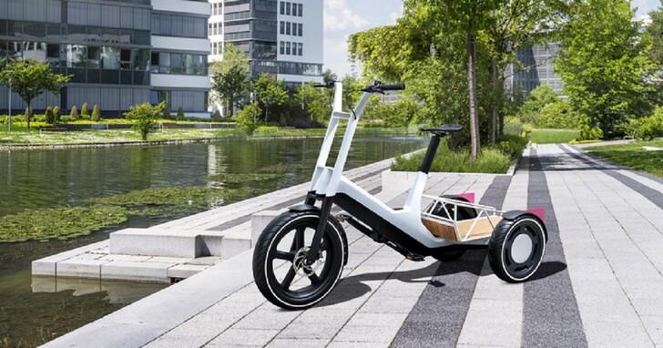 BMW 打造了一款電動輔助三輪車,想拖東西或載小孩都不成問題