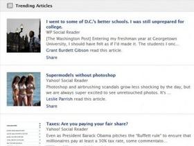 Facebook 測試趨勢文章功能,在動態消息區強迫你看新聞