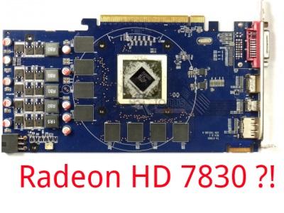 送錯信?Tom's Hardware 德國分站收到 Radeon HD 7830