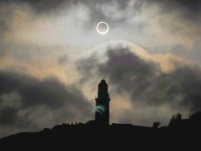 中央氣象局提供 2012/05/21 日環食影像