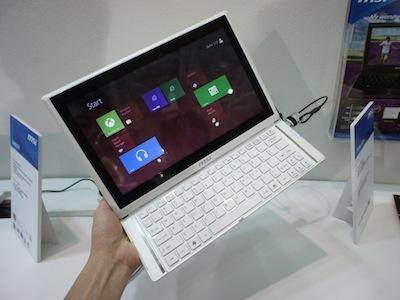 Computex 2012:msi Slider S20 滑蓋筆電,一秒變平板