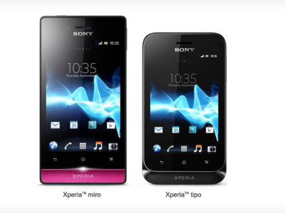 SONY 推出 Xperia Miro 、 Xperia tipo  和  tipo dual 入門智慧型手機