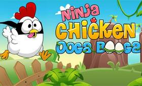 搞笑忍者雞遊戲 Ninja Chicken ooga Booga,跟惡狗大對決