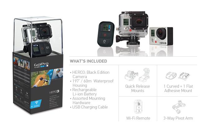 GoPro HERO 3 發表,加入 4K 錄影、內建 WiFi、體積還更小