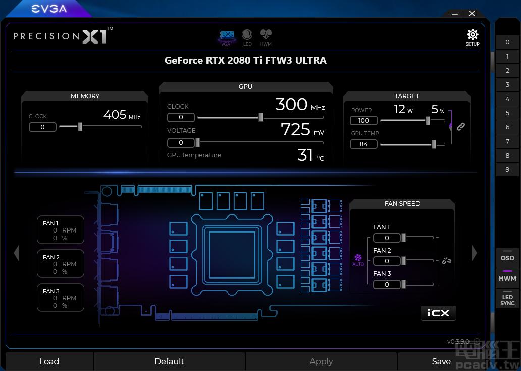 Precision X1 软体主色调为霓虹紫,GPU 分页席卷绝大局部功用