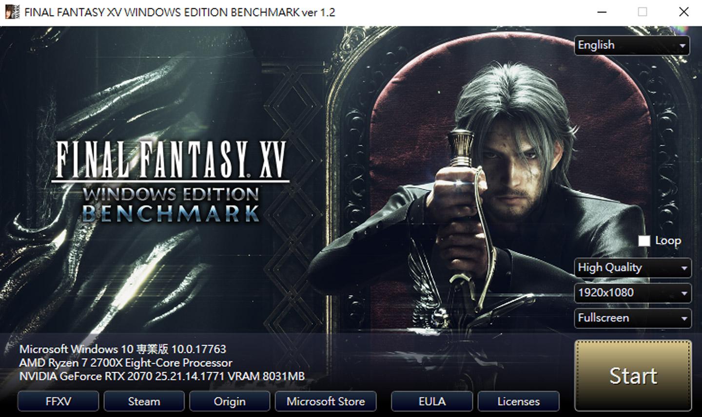 Final Fantasy XV Benchmark 1.2 版,我們以 Full HD 解析度,畫質「High Quality」的標準來進行評測。