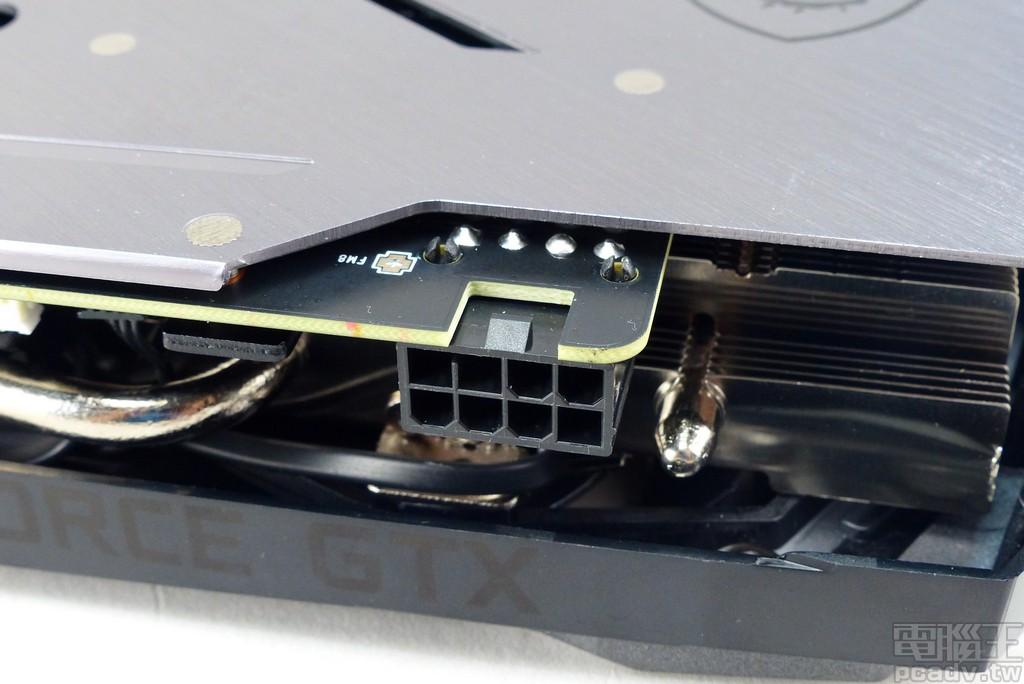 該顯示卡需要額外連接 1 個 PCIe 8pin 輔助電源