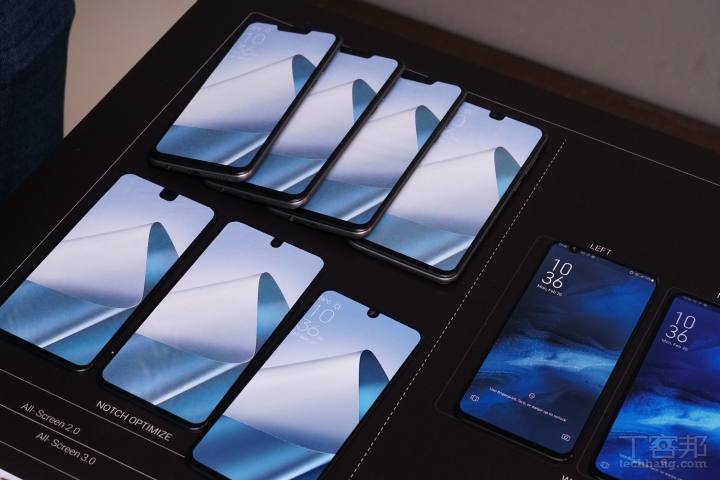 以水滴或瀏海螢幕開發為例,華碩也試做過多種模型。