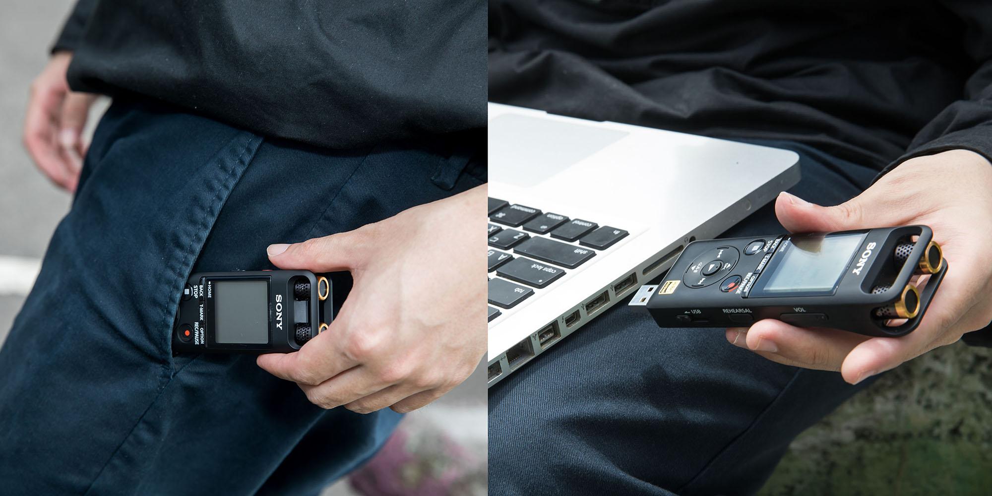 輕巧好攜帶的 PCM-A10 專�立體聲錄音�不只機動性高,還內建 USB 介面可隨插即用,讓陳小律直言取樣創作確實方便不少。