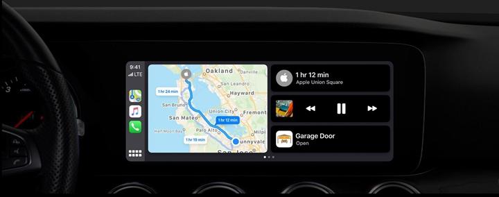 另一個升級是 CarPlay 的新型多功能儀表板,未來能讓車主在同一個視窗�查看地圖、條列目的地指南和控制汽車�的多媒體�放。