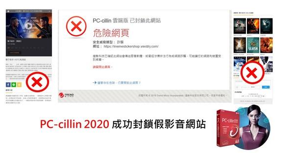 安裝趨勢科技PC-cillin 2020 雲端版,能有效偵測惡意網址及威脅