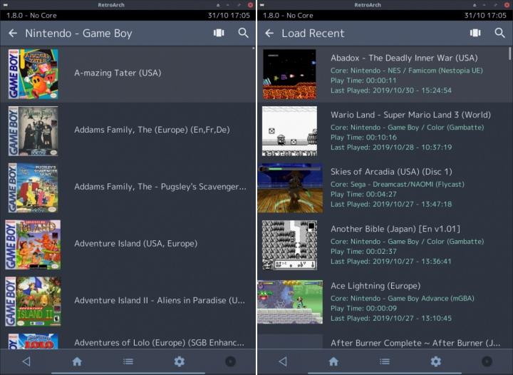 玩家選擇顯示遊戲彩盒、標題畫面、遊戲畫面等不同圖片。