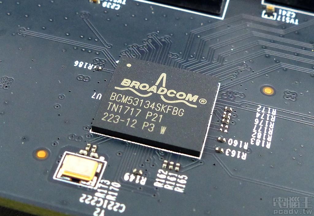 ▲ Archer AX11000 LAN 5~LAN 8 由 BCM53134 交換器晶片負責。