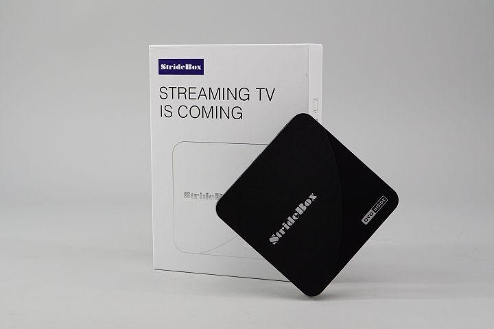 OVO首度與第三方硬體廠商合作的智慧電視盒 StrideBox S1。