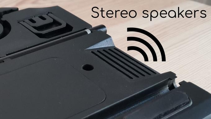 內建的立體聲喇�也有助於提升影音體驗。