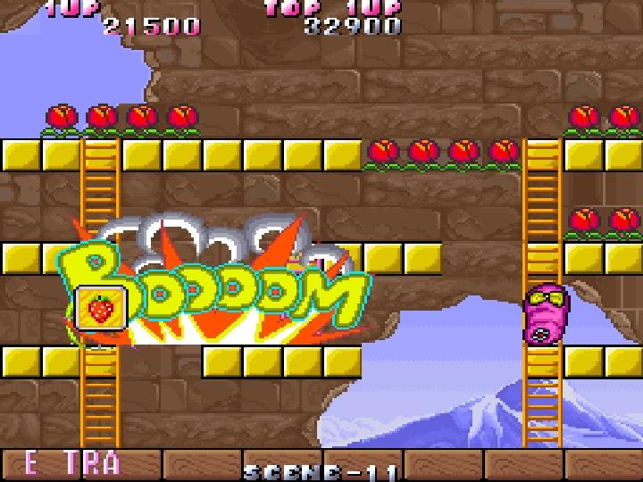 敵人�亡時會隨機留下各種�器,攻擊範圍廣大的炸彈可以一次擊殺多位敵人。