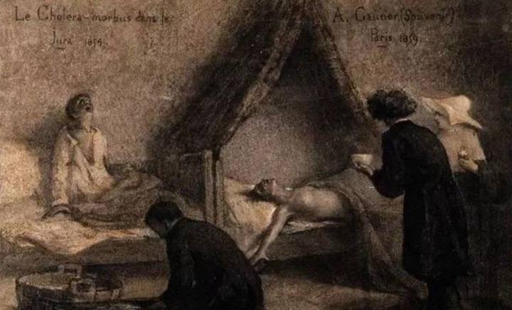 霍亂患者的慘狀