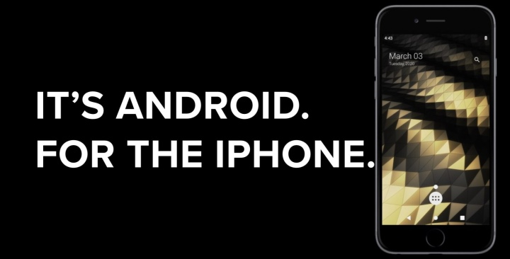 Project Sandcastle是個能在iPhone安裝並執行Android作業系統的開發專案。(圖片來源:Project Sandcastle,首圖與下同)