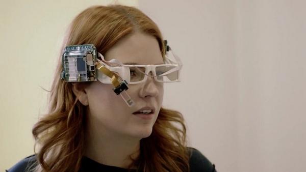 早期的 Google Glass 原型