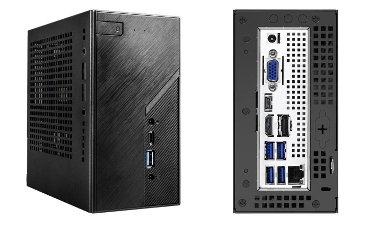 DeskMini H470外觀�面與DeskMini X300接近,但背面I/O背板的USB端�數明顯比較多。