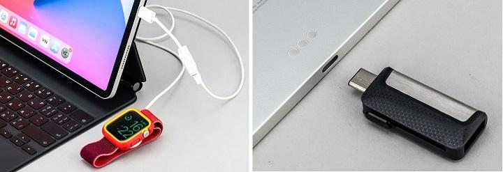 透過 Thunderbolt 可以讀取隨身碟、連接相機、為 Apple Watch 充電…等。