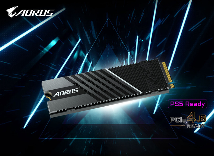 AORUS Gen4 7000s SSD系列固態硬碟解鎖PS5擴充功能