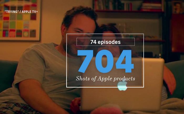蘋果在Apple TV+自製劇�,至今已置入了300部iPhone、120部MacBook和40對AirPods