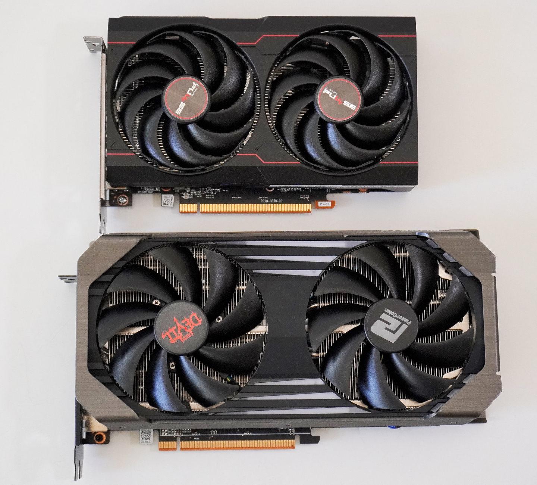 與先前測試的PowerColor Red Devil RX 6600 XT擺在一起,更能體現Sapphire Pulse Radeon RX 6600的小巧。