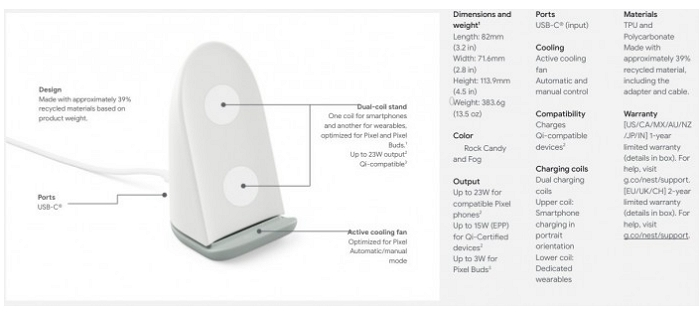 Not only Pixel 6, but also Pixel Stand 2 wireless charging board is exposed: built-in fan, maximum charging power doubled