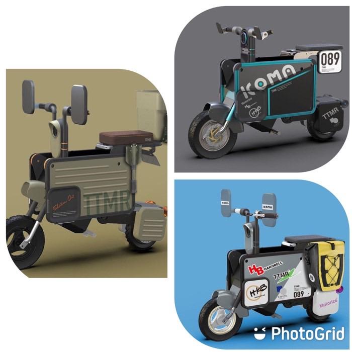 日本公司開發 Tatamel 電動摩托車,折疊後可帶進辦公室直接當邊桌
